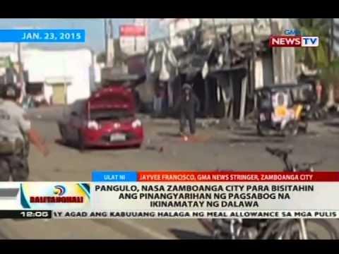 Bt: Pnoy, Nasa Zamboanga City Para Bisitahin Ang Pinangyarihan Ng Pagsabog Na Ikinamatay Ng 2 video