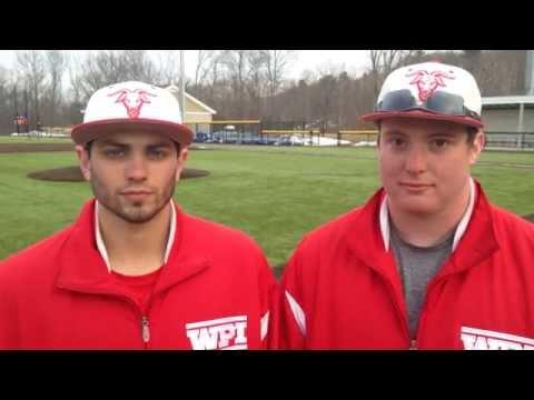 WPI Baseball Post-Game Interview - Andrew Portera and DJ Ouellette