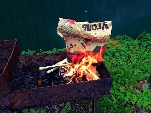 Как профи разжигают уголь для шашлыка