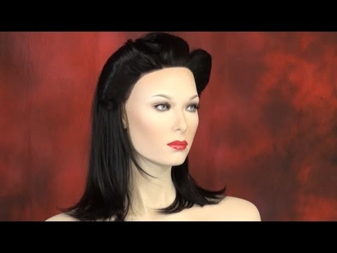 Learn Two Ways to Create Victory Rolls on a Wig- DoctoredLocks.com