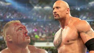The Rock Vs Brock Lesnar WWE Summerslam 2002