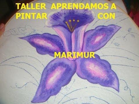 pintura en tela flor orquidea con marimur 443 youtube
