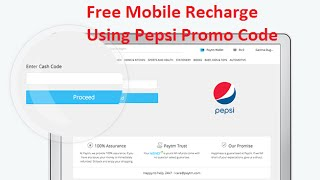 Free Rs. 20 Recharge on Purchase of Pepsi | Using Pepsi Promo Code- Hindi
