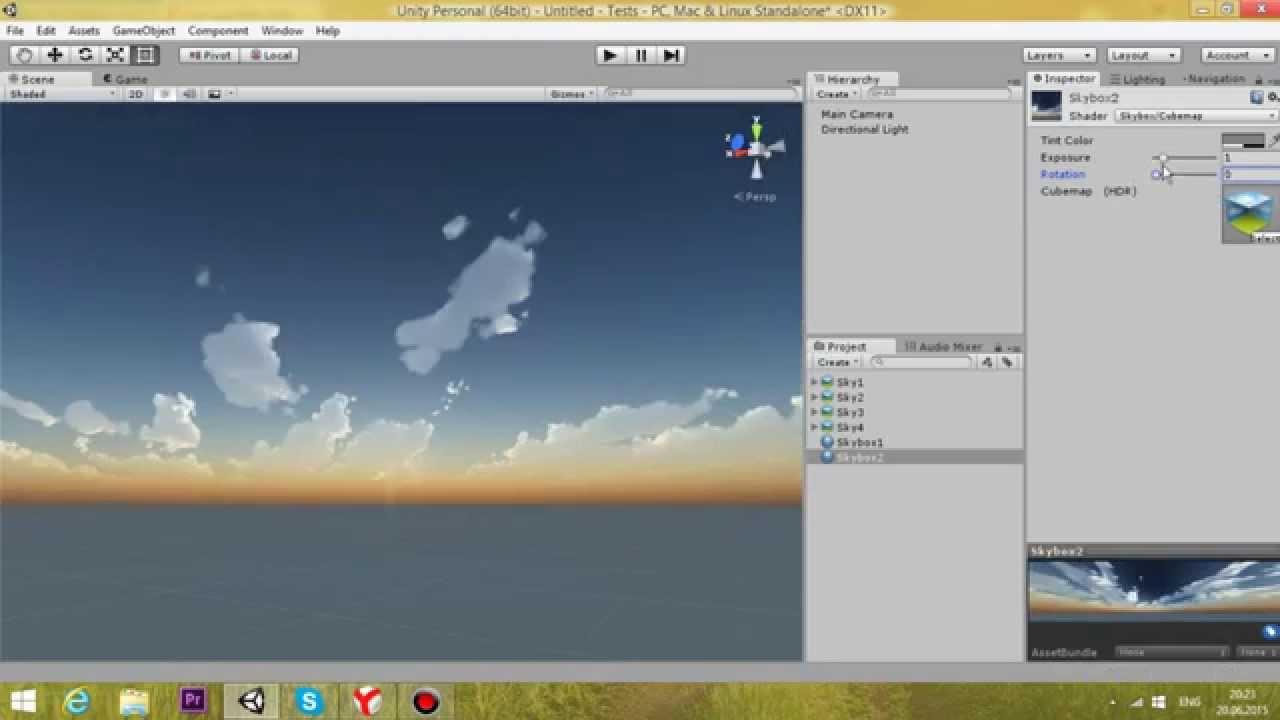 Как создать Skybox в Unity3d? Очень просто! - YouTube