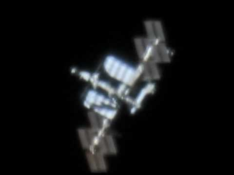ISS through telescope - YouTube