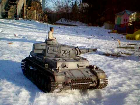 1/16 Heng Long RC Panzer IV F1 with winterketten ( winter tracks)