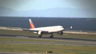 Philippine Airlines Airbus A330-300 14hours delayed Landing at Nagoya