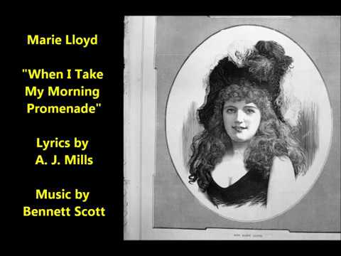 "Marie Lloyd ""When I Take My Morning Promenade"" British music hall classic"