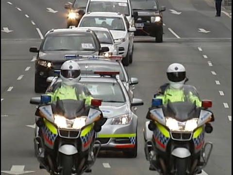 President Xi Jinping motorcade - Hobart, Tasmania / 習近平的車隊 - 霍巴特,塔斯馬尼亞