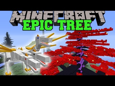 Minecraft: Epic Tree (huge Prince Pet, Queens Tree, Troll Ore & More!) Mod Showcase video