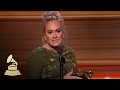 Adele and Greg Kurstin Win Song Of The Year  Acceptance Speech  59th GRAMMYs -