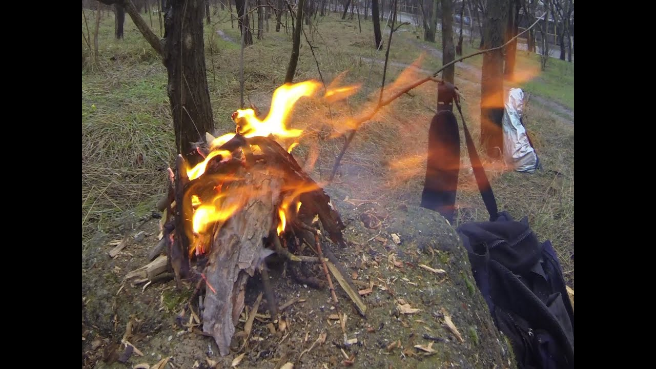 Как сделать костер в лесу