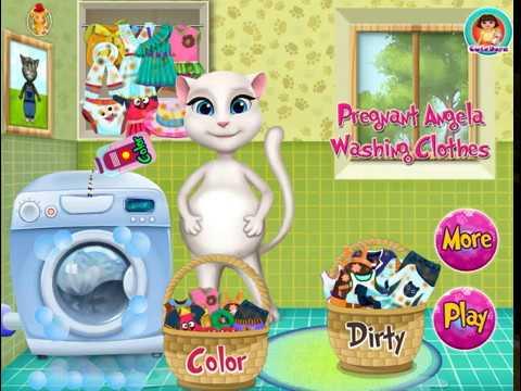 БЕРЕМЕННАЯ Анжела стирает одежду. Хадачка ТВ