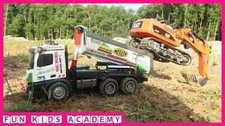 Ô tô đồ chơi cho bé - Máy xúc, xe tải tự đổ, xe ben làm việc ở công trường - Đồ chơi trẻ em mới nhất