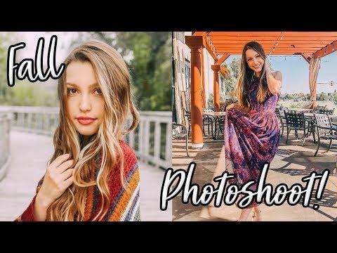 FALL INSTAGRAM PHOTOSHOOT!! Sydney Serena Vlogs