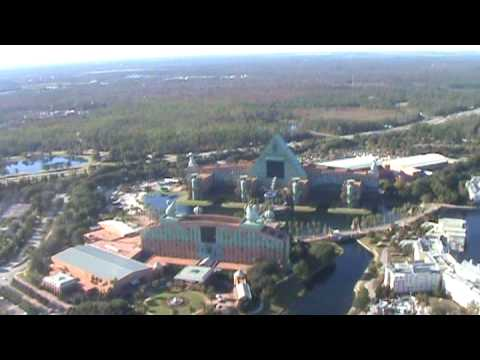 Disney Helicopter Tour Over Orlando Florida Epcot Studios Blizzard Beach  Yo