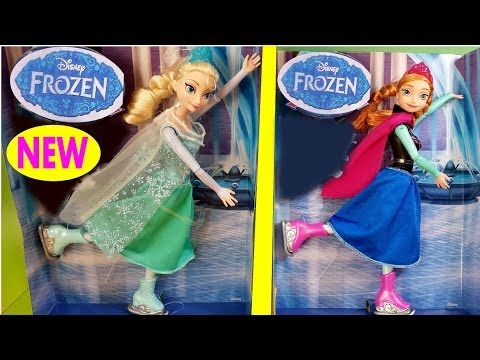 NEW 2014 Disney Frozen Ice Skating Elsa Anna Toy Review Play Doh How to make Olaf