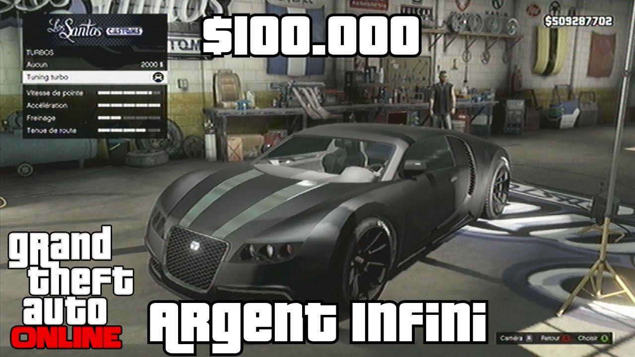 gta 5 online argent infini 100000 toutes les 20 secondes vendre voiture plus de. Black Bedroom Furniture Sets. Home Design Ideas