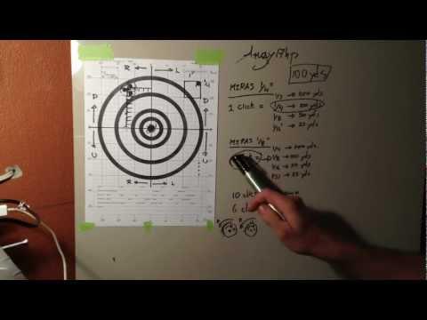 Sight in target (ajustando la miras telescopica en el blanco)