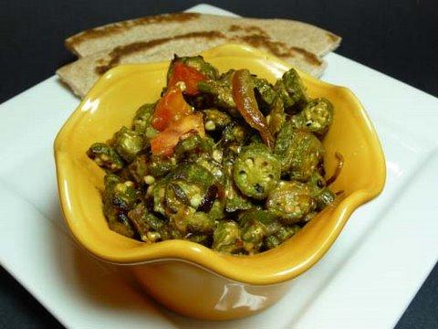 Bhindi Subzi (Okra Vegetable) Indian Recipe