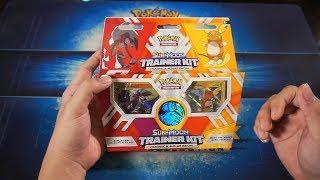 Mở hộp Pokemon TCG Sun & Moon Trainer Kit: Lycanroc & Alolan Raichu M2DA