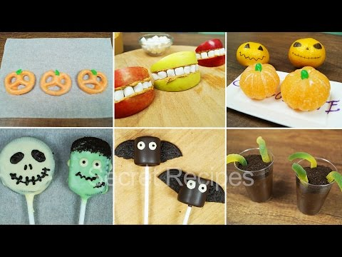 СНЕКИ НА ХЭЛЛОУИН. ЛАЙФХАКИ С ЕДОЙ. СЛАДОСТИ НА HALLOWEEN | HALLOWEEN TREATS