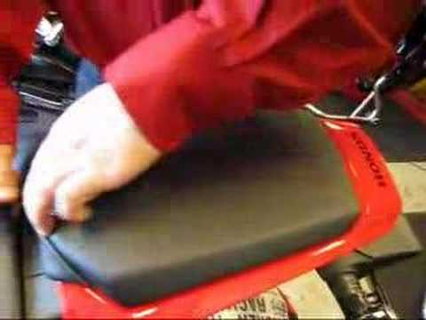 A close look at the rear seat of the 2008 CBR1000RR
