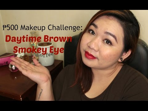 ₱500 Makeup Challenge: Daytime Brown Smokey Eye | Pinay Beauty In A Budget