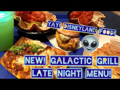 NEW! Galactic Grill late night food at Tomorrowland Terrace in Disneyland Review