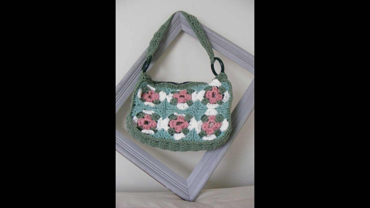 Crochet Granny Square Purse : Crochet Granny Square Purse Part 1 - YouTube