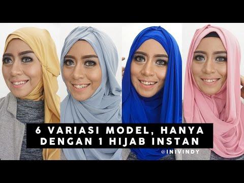 6 Tutorial Hijab Modern Sehari-Hari | 1 Hijab Instan bisa jadi 6 model | inivindy - YouTube
