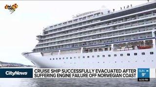 Cruise ship evacuated after engine failure off Norway coast