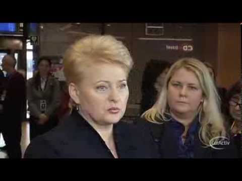 Lithuanian president Dalia Grybauskaite arrives at the the December 2013 EU Summit