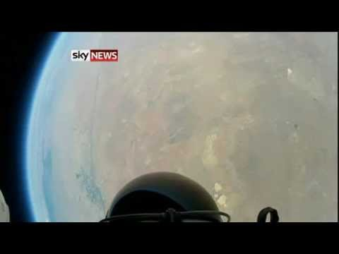 Felix Baumgartner Skydives From Space