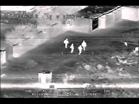 Apache Helicopter Night Vision in Iraq - Visão Noturna do Helicoptero Apache no Iraque