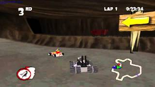 LEGO Racers PS1 gameplay - GogetaSuperx