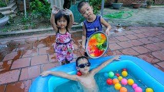 Trò Chơi Thiếu Nhi - Bé Nhím Đi  Tập Bơi Cùng Các Bạn - Đò Chơi Trẻ em
