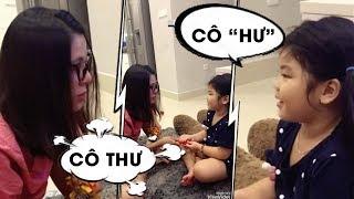 Nam Thư dạy cháu phát âm...