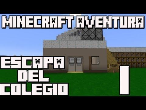 Minecraft 1.5.2 Mapa Aventura Escapa del colegio Cap.1