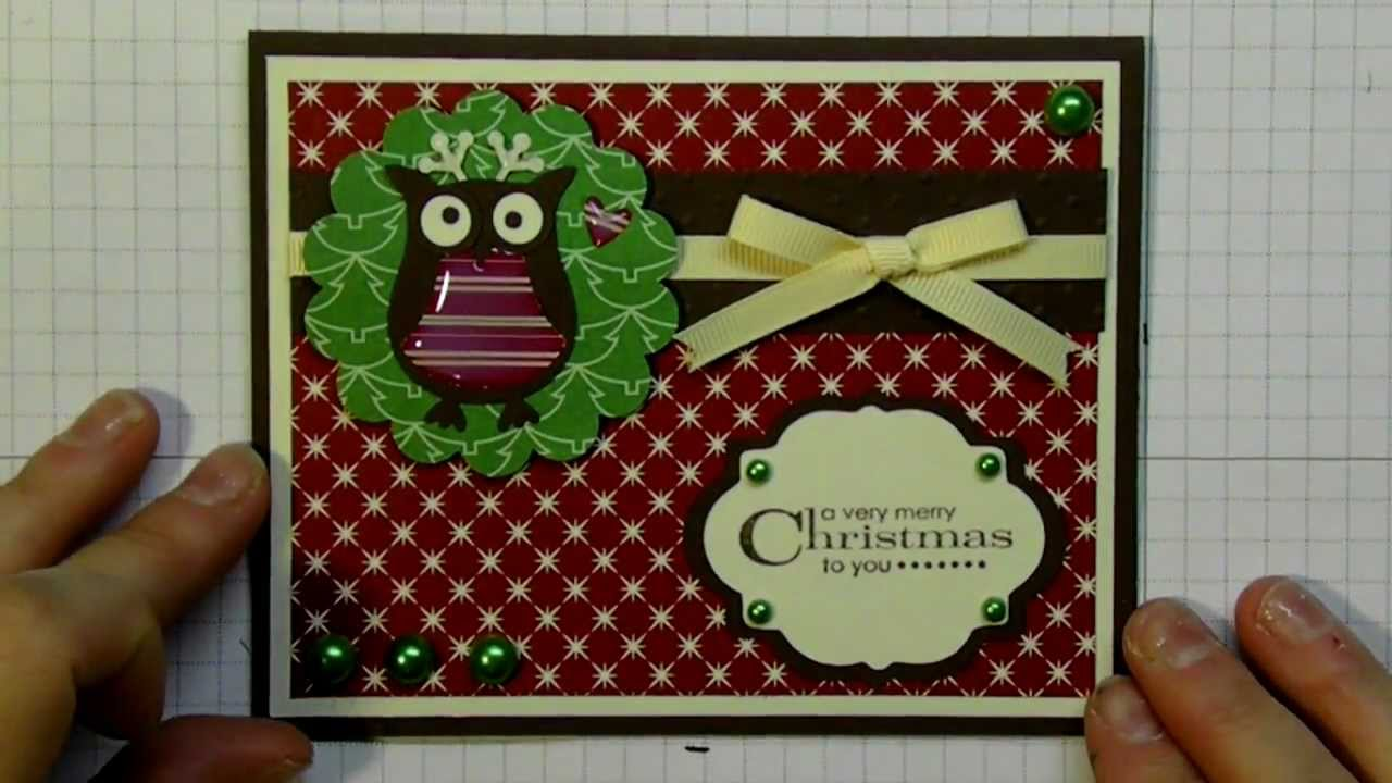 Christmas Card 2012 Series Using Owl Punch And Elegant