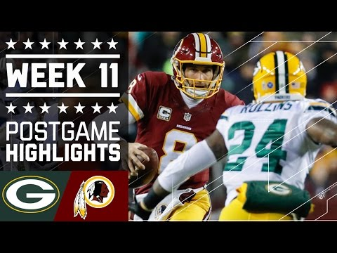 Packers Vs Redskins Nfl Week 11 Game Highlights