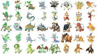 All Starter Pokemon & Evolutions Type Swap | Pokemon Type Swap Fanart