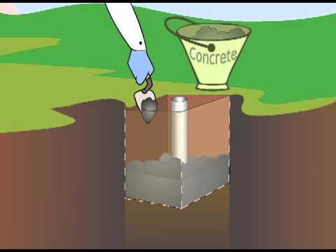 Bodenhülse zu Fahnenmast (BH)