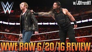 WWE Raw 6/20/16 Review: Seth Rollins vs Roman Reigns vs Dean Ambrose Set For WWE Battleground 2016