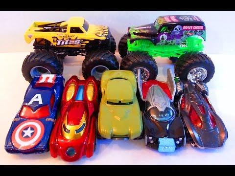 Хот Вилс Мстители Халк Капитан Америка Железный человек Тор Тачки Hot Wheels Avengers Monster Jam