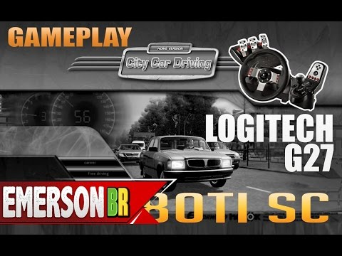 Gameplay City Car Driving com o volante Logitech G27 (i7 4930K + GTX 780 Ti SC)