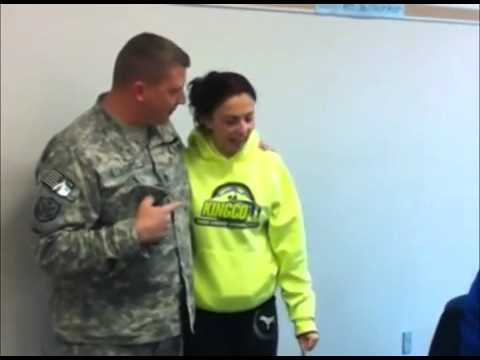 Soldier Surprise Daughter At School For Christmas video