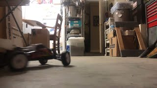 RC Buggy Racing In Garage