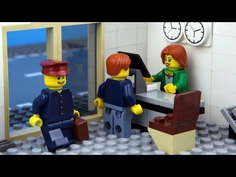 Lego City Hotel - Funny Lego Stop Motion Animation