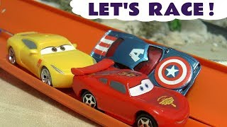 Cars Lightning McQueen Disney Cars Toys race stories with Hot Wheels superhero cars TT4U